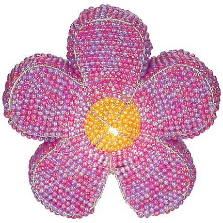 Beadworx Flower Power Hand-Crafted Beaded Night Light