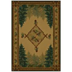North Sky Collection Evergreen Lodge Area Rug