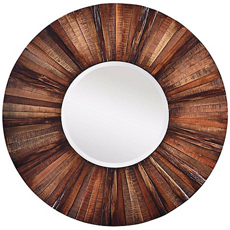 "Windswept Sunburst 36"" Diameter Round Wall Mirror"