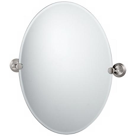 "Gatco Marina Satin Nickel 26 1/2"" High Tilt Wall Mirror"