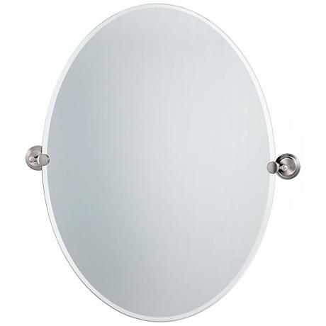 "Gatco Marina Satin Nickel 28 1/2"" High Tilt Wall Mirror"