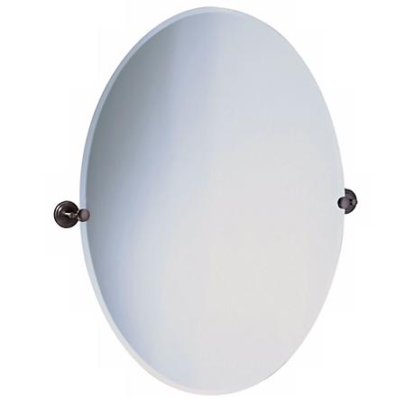 "Gatco Marina Bronze Finish Oval 32"" High Tilt Wall Mirror"