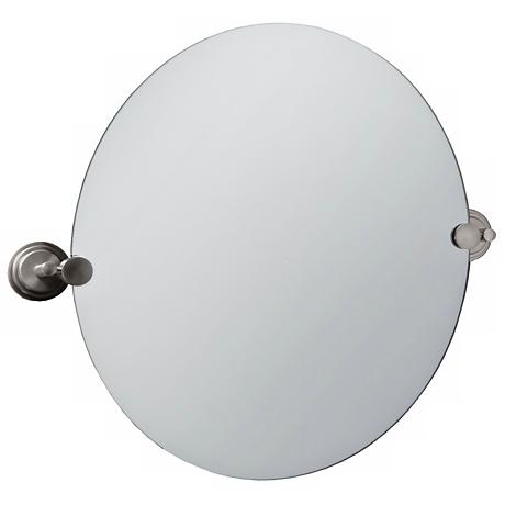 "Gatco Marina Satin Nickel 23 1/2"" High Tilt Wall Mirror"