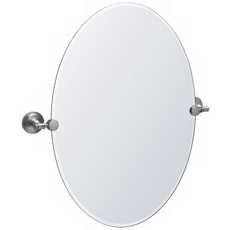 "Gatco Irvine Satin Nickel 26 1/2"" High Tilt Wall Mirror"