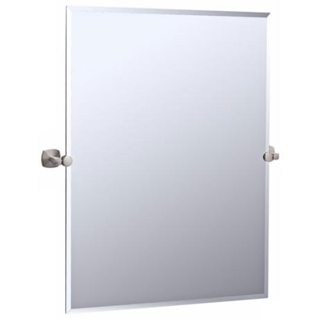 "Gatco Jewel Satin Nickel 31 1/2"" High Tilt Wall Mirror"