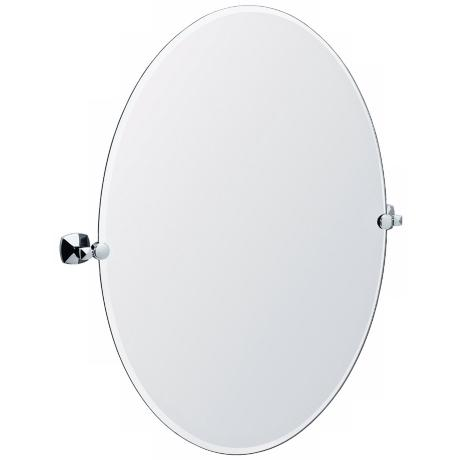 "Gatco Jewel Chrome Finish Oval 32"" High Tilt Wall Mirror"
