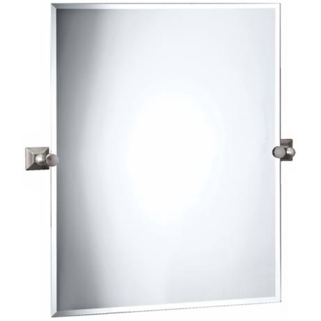 "Gatco Meridian Satin Nickel Finish 32"" High Tilt Wall Mirror"