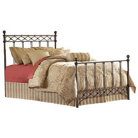 Argyle Metal Poster Bed