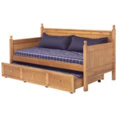 Casey Honey Maple Wood Twin Trundle Daybed