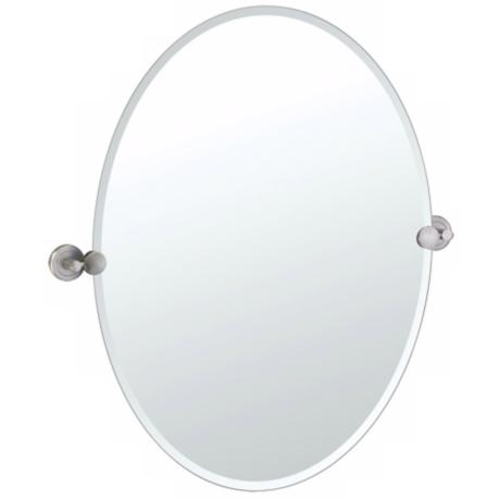 Gatco Latitude 2 Satin Nickel Finish Oval Wall Mirror