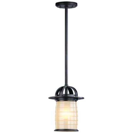 "Tiburon Collection Bronze 10 1/2"" High Outdoor Hanging Light"