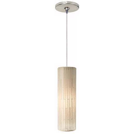 Peyton White Glass Satin Nickel LED Tech Lighting Mini Pendant