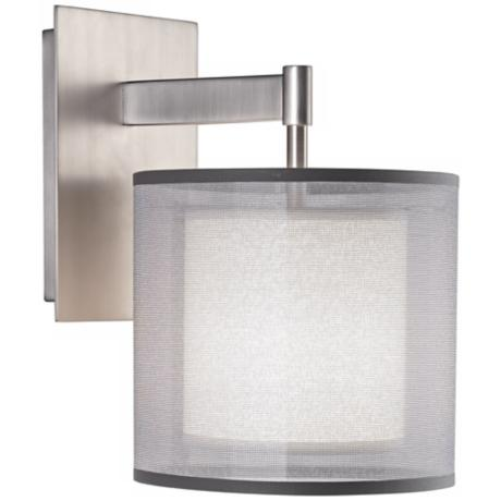 Robert Abbey Saturnia Steel Plug-In Wall Sconce