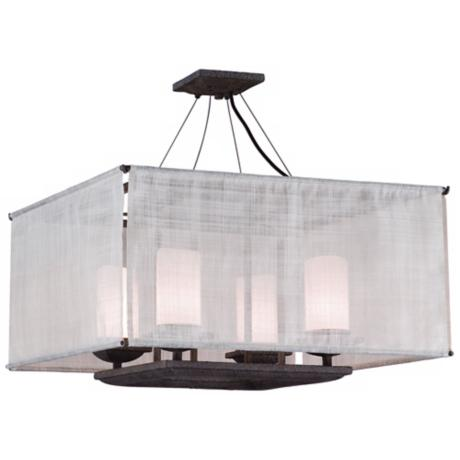 "Raffia Collection Weathered Bark 24"" Wide Ceiling Light"