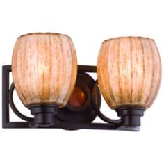 "Soleil Collection Sunrise Amber 11 1/2"" Wide Wall Sconce"