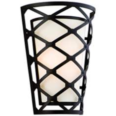 "Helix Modern Bronze 13 3/4"" High Wall Sconce"