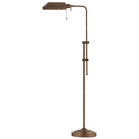 Rust Adjustable Pole Pharmacy Metal Floor Lamp