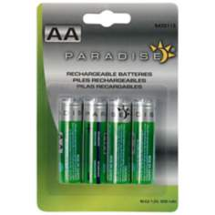 Pack of 4 Solar AA Rechargeable Batteries