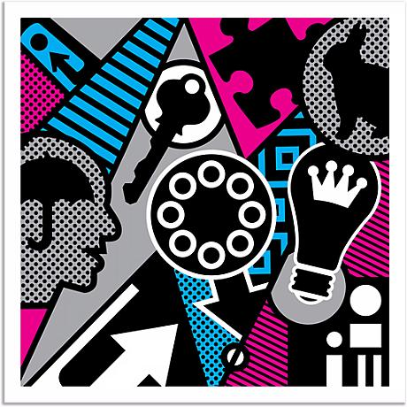 "Pop Psychology 25"" Square Giclee Wall Art Poster"