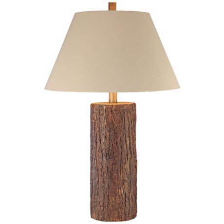 Ambience Natural Finish Cypress Log Table Lamp