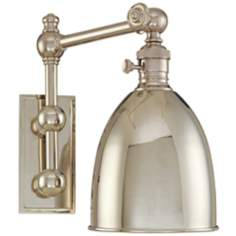 Monroe Polished Nickel Adjustable Wall Light