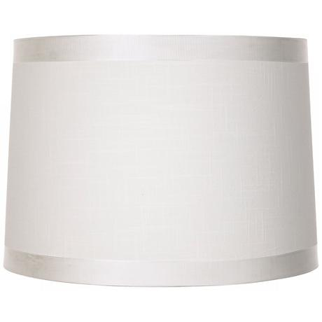Off White Fabric Drum Shade 13x14x10 (Spider)