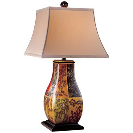 Ambience Collection Distressed Pastel Watercolor Table Lamp