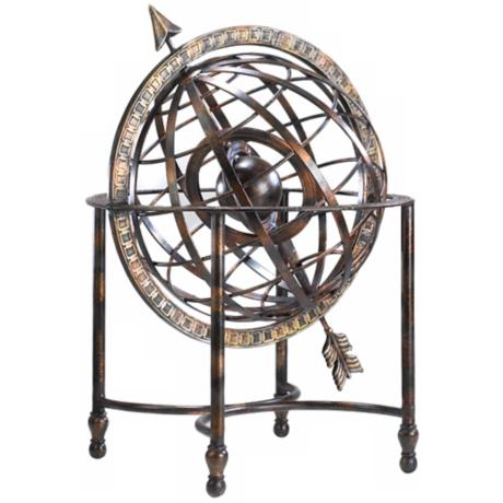 Iron Arrow Decorative Steampunk Globe