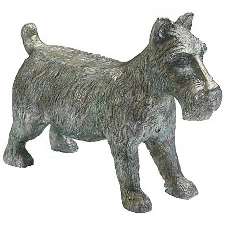 "Pewter Finish Collectible Large 6"" High Scottie Dog Token"