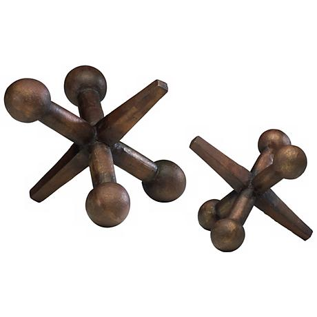 "Canyon Bronze Large 9 1/2"" Wide Jacks Set of 2"