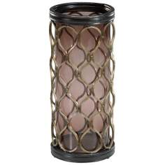 Mystic Gold Large Mesh Candle Holder