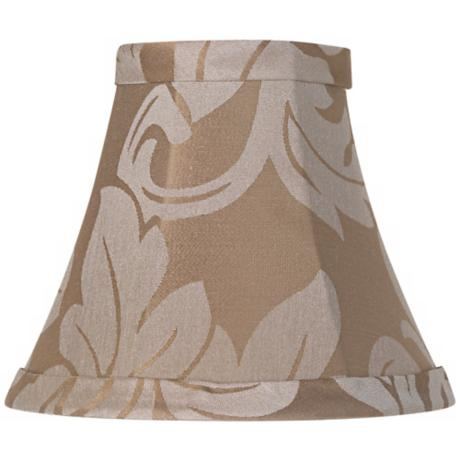 Taupe Brocade Lamp Shade 3x6x5 (Clip-On)