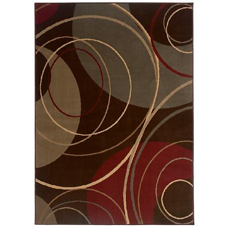 Riverwoods Collection Touching Circle Area Rug