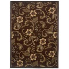 Riverwoods Collection Terrace Flowers Area Rug