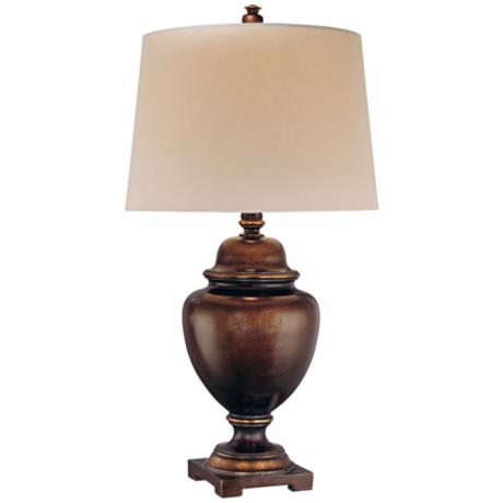 Ambience Collection Brown Bronze UrnTable Lamp