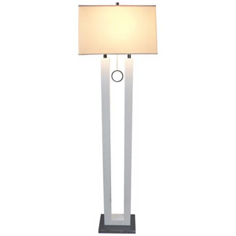 Nova Earring White Contemporary Floor Lamp