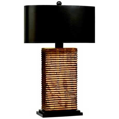 Kichler Vivido Pleat Table Lamp With Oval Shade