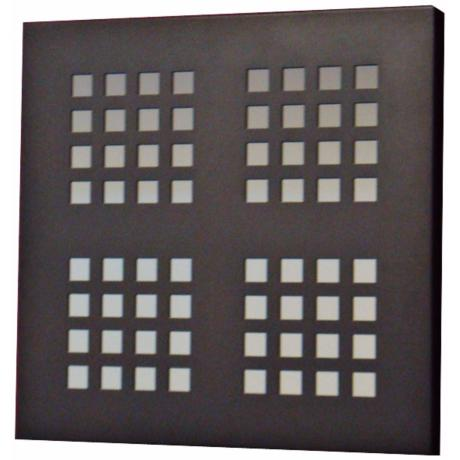 "Black Quarter Squares 19"" Square Wall Mirror"
