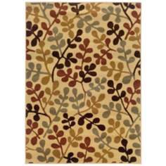 Riverwoods Collection Twigs Area Rug