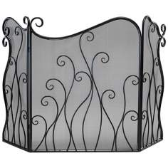 Evalie Bronze Iron Fire Screen