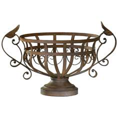 Aged Rust Iron Fruit Basket