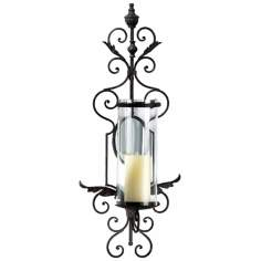 Sonoma Toasted Sienna Iron Wall Candle Holder