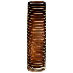 Small Raw Umber Glass Vesper Vase