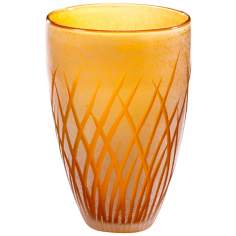 Medium Amber and White Aquarius Vase