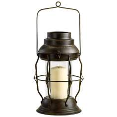 Rustic Iron Willow Lantern Candle Holder