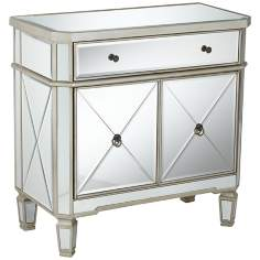 "Rita 32"" Wide Mirrored Console Cabinet"