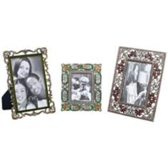 Set of 3 Jeweled Picture Frames