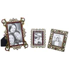 Set of 3 Multi Jeweled Picture Frames