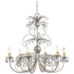 "Crystorama Victoria Collection Silver 28"" Wide Chandelier"