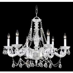 "Crystorama Sutton Antique White 28"" Wide Chandelier"